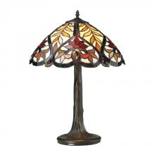 ELK Lighting 72080-1 - Brimford Tiffany Glass Table Lamp in Tiffany Bro