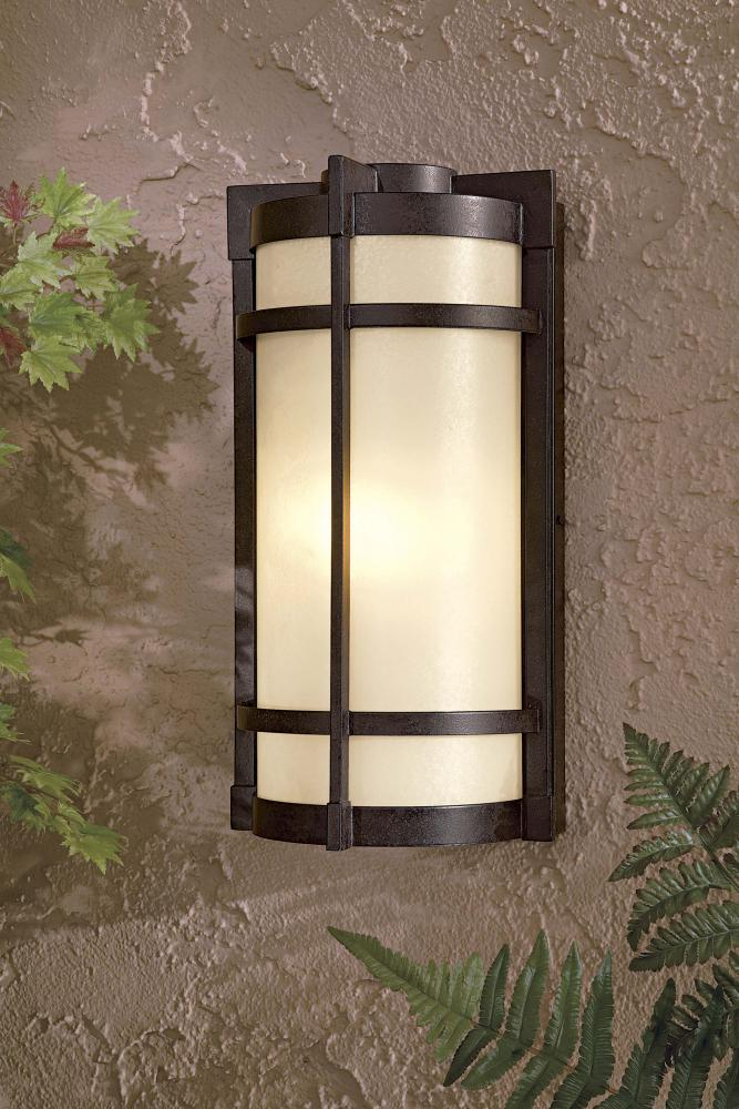 Electric Garden Wall Lights : One Light Bronze Outdoor Wall Light : 72021-179-pl Springfield Electric