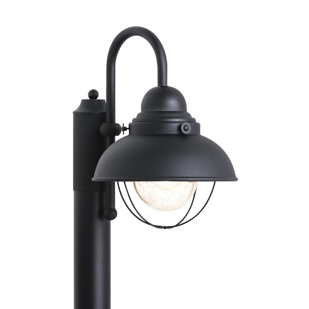 SEA 8269-12 100W 120V MEDIUM A BLACK SINGLE LIGHT SEBRING POST LANTERN