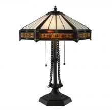 ELK Lighting D1852 - Filigree 2 Light Table Lamp In Tiffany Bronze